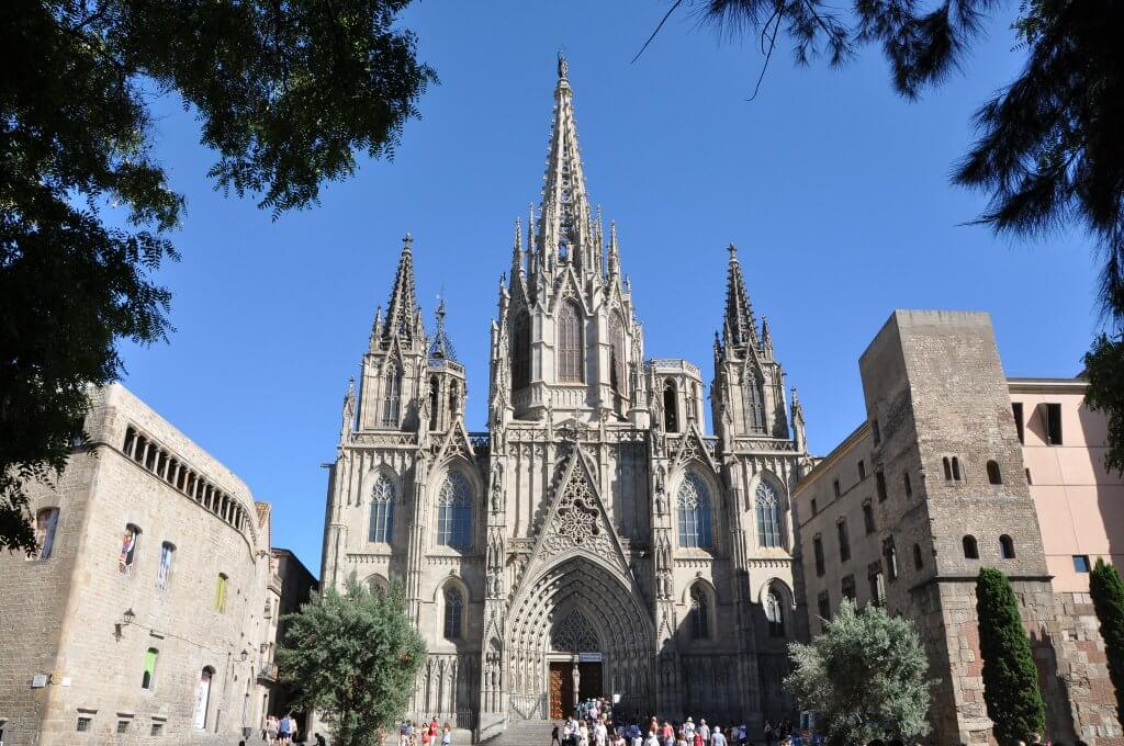 exterior of the Barcelona cathedral