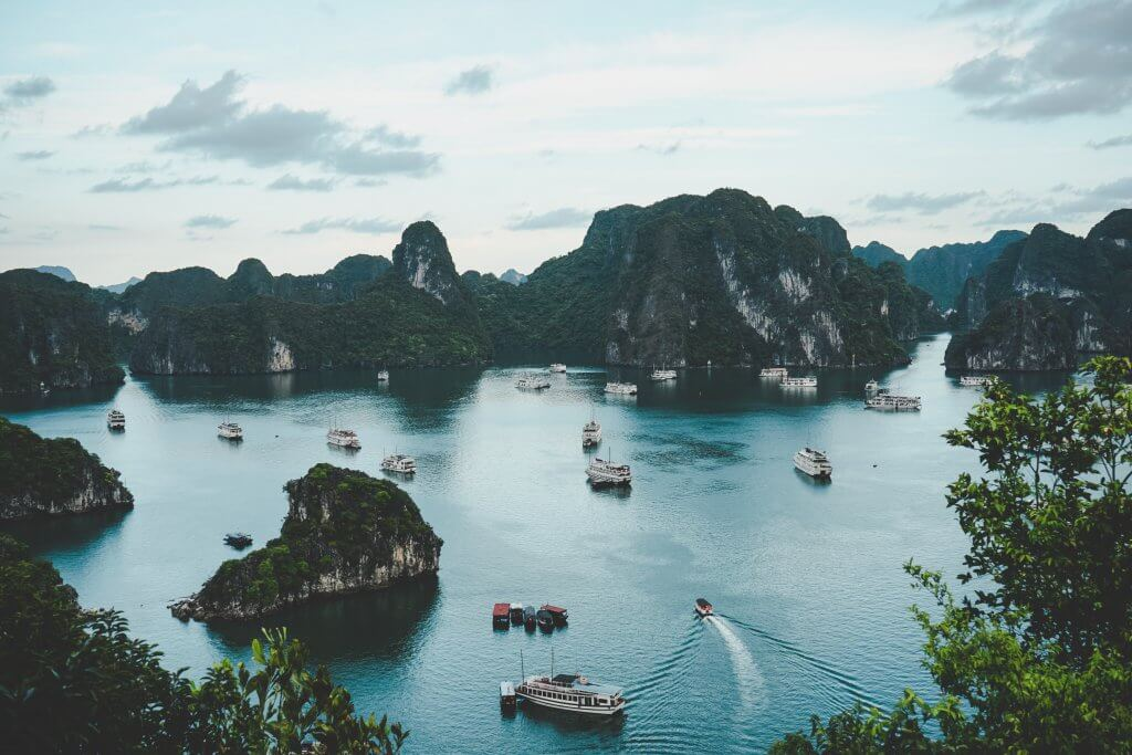 ha long bay vietnam tour from above