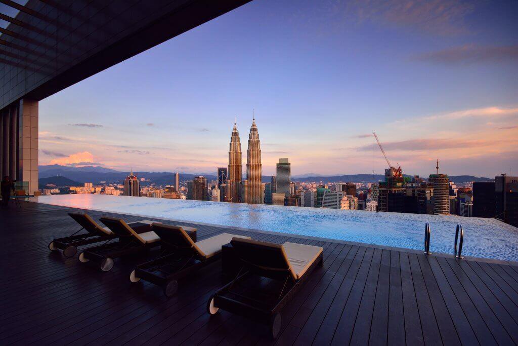 hotel infinity rooftop pool in Kuala Lumpur