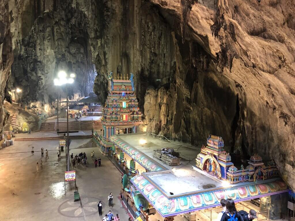 inside Batu caves in kuala lumpur