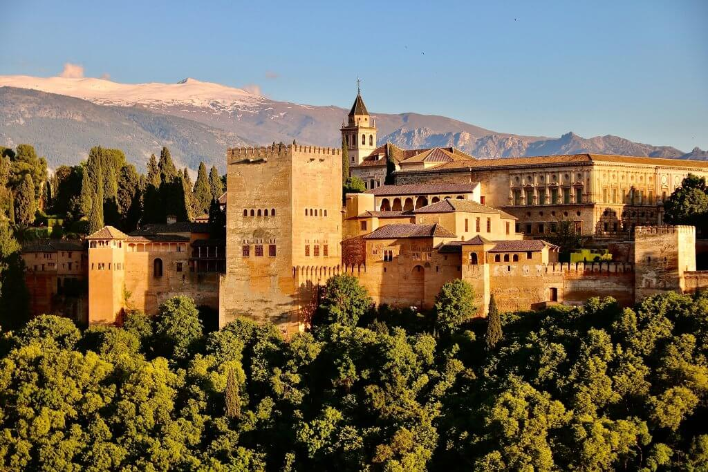 the alhambra palace and fortress in Grenada, Spain
